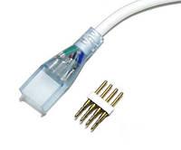 Коннектор для светодиодных лент 220В 5050 RGB (разъем-провод +4pin)