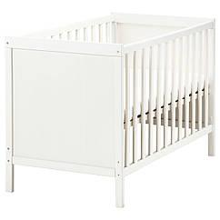 SUNDVIK Кроватка детская, белый 002.485.67