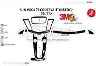 Декоративные накладки на панель приборов для Chevrolet Cruze, автомат из 9 элем