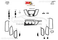 Тюнинг панели проборов (торпедо) для Ford Transit 2014-... из 23 элем