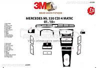 Декор торпеды для Mercedes-Benz ML W164 2010-2012