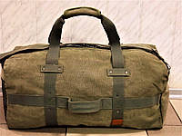 .Большая дорожная брезентовая сумка SHUNYU 166 зеленая