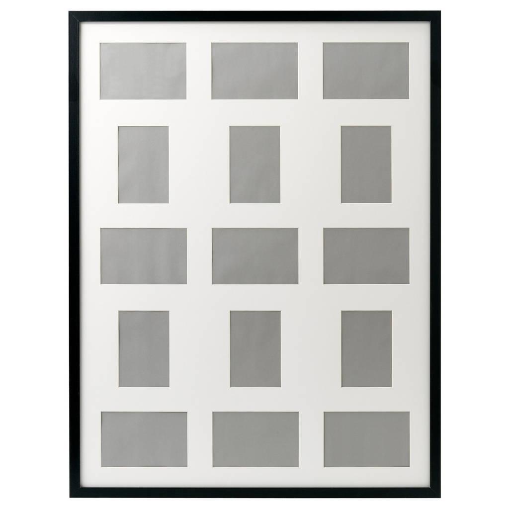 RIBBA Рама для 15 картин, черный