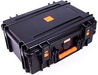 Надежный ударопрочный кейс из пластика MIRKOCASE 382615 черный