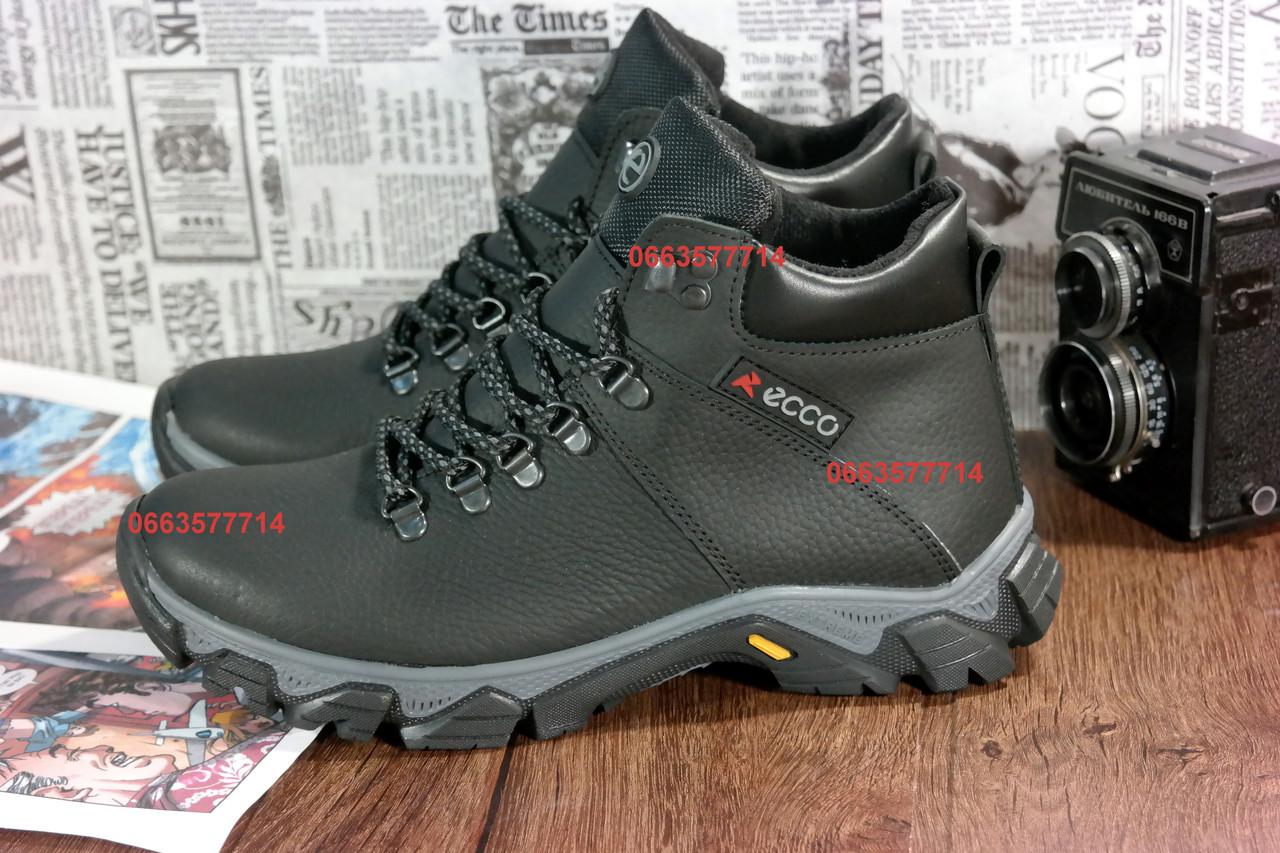 bba9b7dcbec8 Мужские зимние ботинки ECCO , кожаная обувь, высокое качество изготовления,