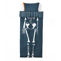 BENRANGEL Комплект постельного белья, синий, серый
