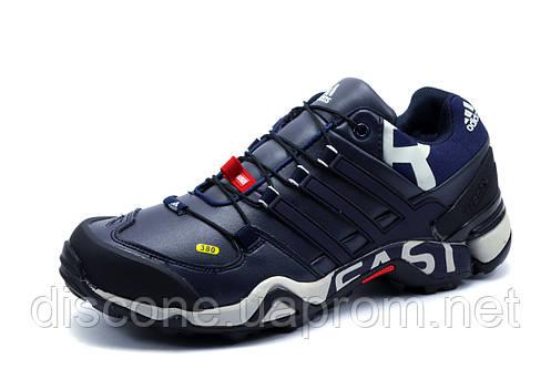 Зимние мужские кроссовки Adidas Terrex, на меху, темно-синие
