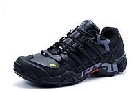 Зимние мужские кроссовки Adidas Terrex, на меху, черные,р. 41