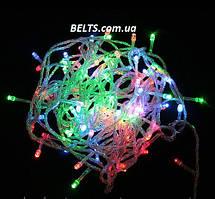 Новогодняя разноцветная гирлянда 300 LED длина 24 м
