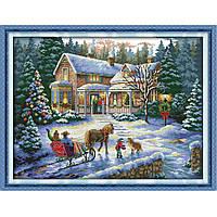 """Набор для вышивки крестом """"Новогодняя сказка"""", фото 1"""