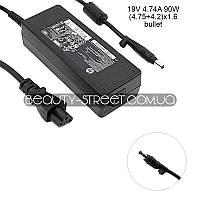 Зарядное для ноутбука HP/Compaq 19V 4.74A 90W (4.75+4.2)x1.6 bullet (original)