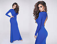 Шикарное вечернее женское платье макси с открытой спиной