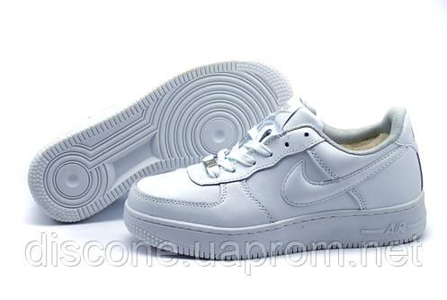 Зимние кроссовки Найк Air Max унисекс, на меху, белые