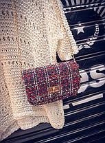 Твидовая вязанная Fashion сумка сундучок, фото 2