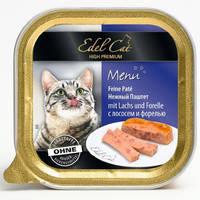 Паштет для кошек Edel Cat Лосось и форель 100 гр.