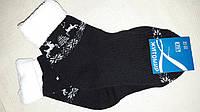 Махровые носки для девочки черно-белые, р-р 20-22, 18 грн