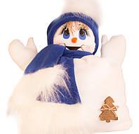"Подушка ""Снеговик"" мальчик (синий шарфик)"