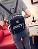 Жіночий рюкзак міський із заклепками і плетінням, фото 4