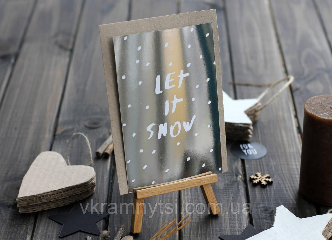 Листівка «Let it snow»