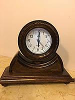 Годинник дерев'янний настільний ручної роботи, фото 1