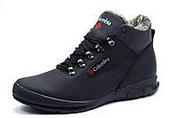 Зимние ботинки Columbia мужские, на меху, натуральная кожа, черные, фото 1
