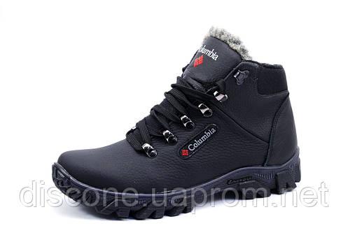 Зимние мужские ботинки Columbia, на меху, натуральная кожа, черные
