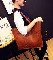 Большая вместительная сумка+клатч, набор, фото 3