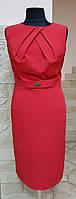 Платье нарядное,классика,красное,без рукавов Stella (Италия)