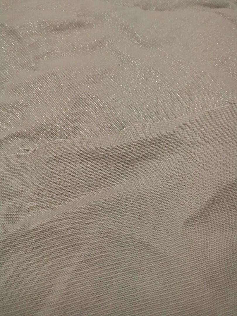 Джинс лен бежевый стрейч льняного цвета 60см#140см=60грн