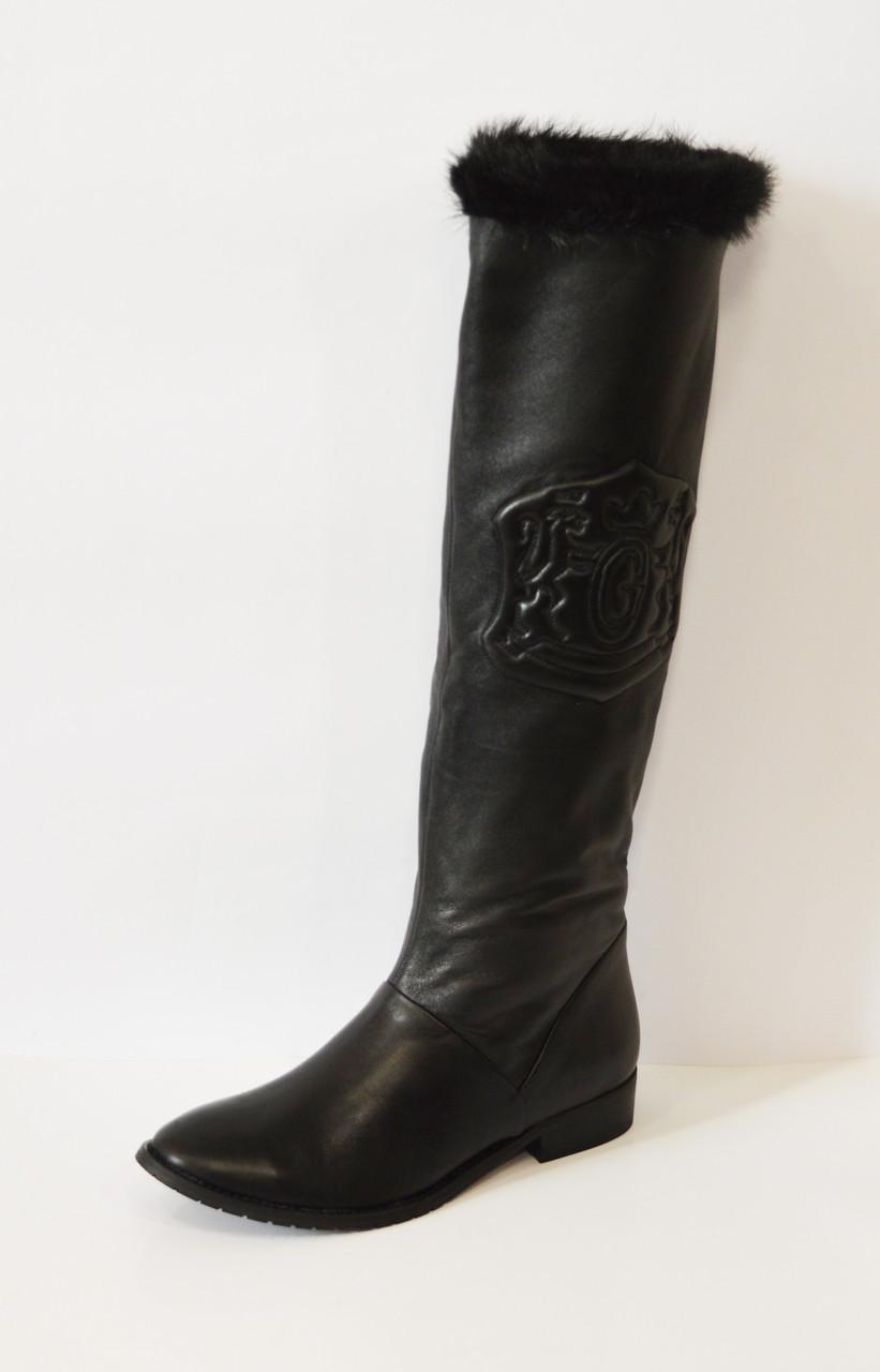 Кожаные женские сапоги Gina 3852