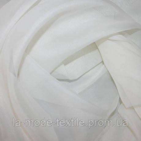 Однотонная тюль вуаль молочного цвета