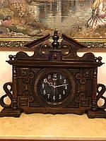 Годинник дерев'янний настільний ручної роботи