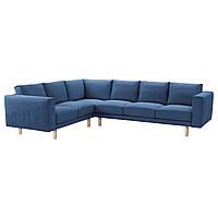 NORSBORG Чехол на диван угловой 2 3/3 2, Edum темно-синий