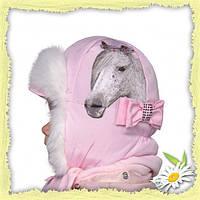 Детская шапочка с шарфиком для девочки