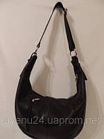 """Кожаная женская сумка в стиле """"Хобо"""" (Италия) Коричневый"""