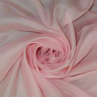 Однотонная тюль вуаль светло розовый пастельный