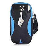 Сумка на руку для телефона для бега и спорта Pouch Black Blue