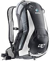 Черно-белый велосипедный рюкзак на 12 л. Race EXP Air DEUTER 32133 7130