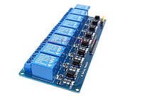 8 каналов 5в модуль реле 10a/220v опторазвязка , Arduino ARM PIC AVR DSP