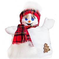"""Подушка """"Снеговик"""" мальчик (красный шарфик)"""