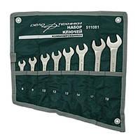 Набор ключей комбинированных; 8, 9, 10, 12, 13, 14, 17, 19; 8 шт, холдер