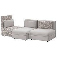 VALLENTUNA 3-частично, диван с кроватью, Orrsta светло-серый, Funnarp черный/бежевый