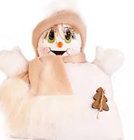 """Подушка """"Снеговик"""" мальчик (бежевый шарфик)"""