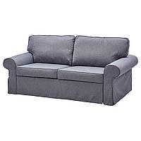 EVERTSBERG Диван-кровать 2-местный/буфер, Nordvalla серый