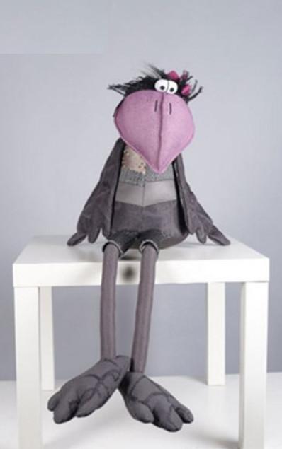 Интерьерная мягкая игрушка Ворона Carla-Карла (Фото 2)