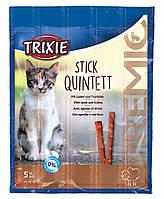 Trixie (Трикси) Premio Stick Quintett лакомство мясные палочки для кошек 25 г (птица и ягненок)