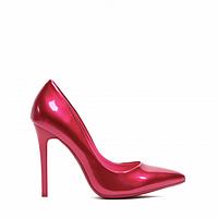 Туфли на шпильке ярко-малиновые лаковые блестящие 35-40