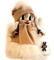 """Подушка """"Снеговик"""" девочка (светло-коричневый шарфик)"""