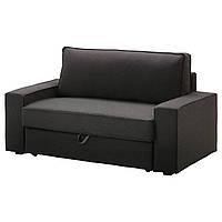 VILASUND Чехол на 2-местный диван-кровать, Дансбу темно-серый