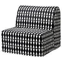 LYCKSELE Pokrycie fotela, Ebbarp czarny/biały